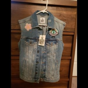 NWT Ragged Priest Patched Vest